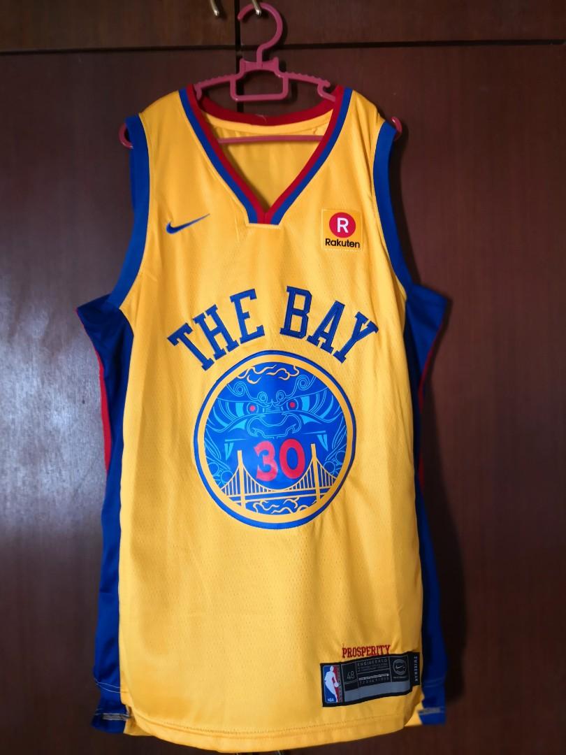 competitive price b37cb 4d8b1 The bay GSW Basketball Jersey copy ori size M