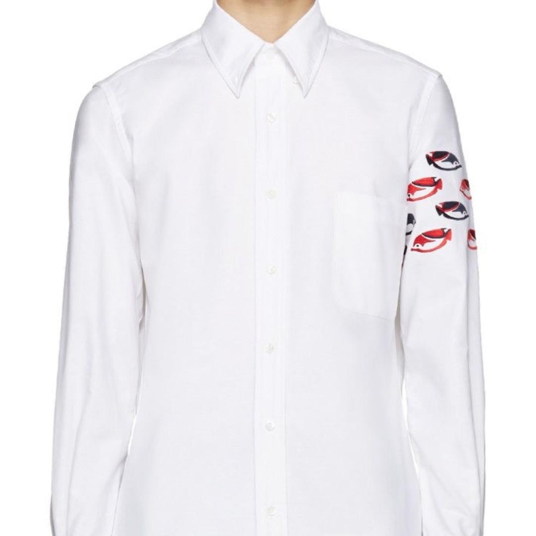 673a7cc90b8 Thom Browne Classic Long Sleeve Shirt, Men's Fashion, Clothes, Tops ...
