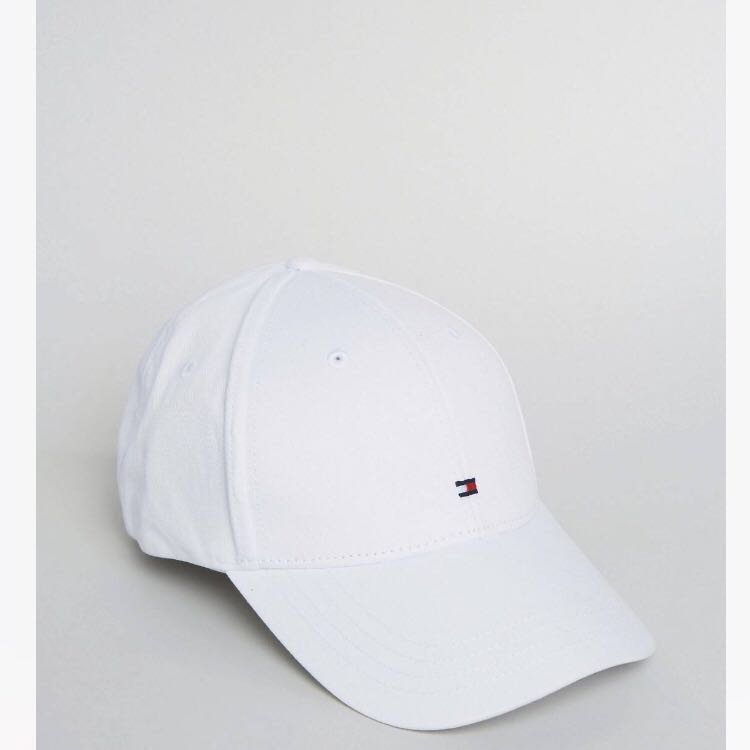 7e201f94 Tommy Hilfiger classic white cap, Men's Fashion, Accessories, Caps & Hats  on Carousell