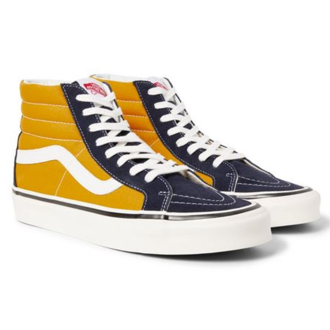 26a80862a46b VANS Anaheim Factory SK8-HI 38 DX Suede And Canvas High-Top Sneakers ...