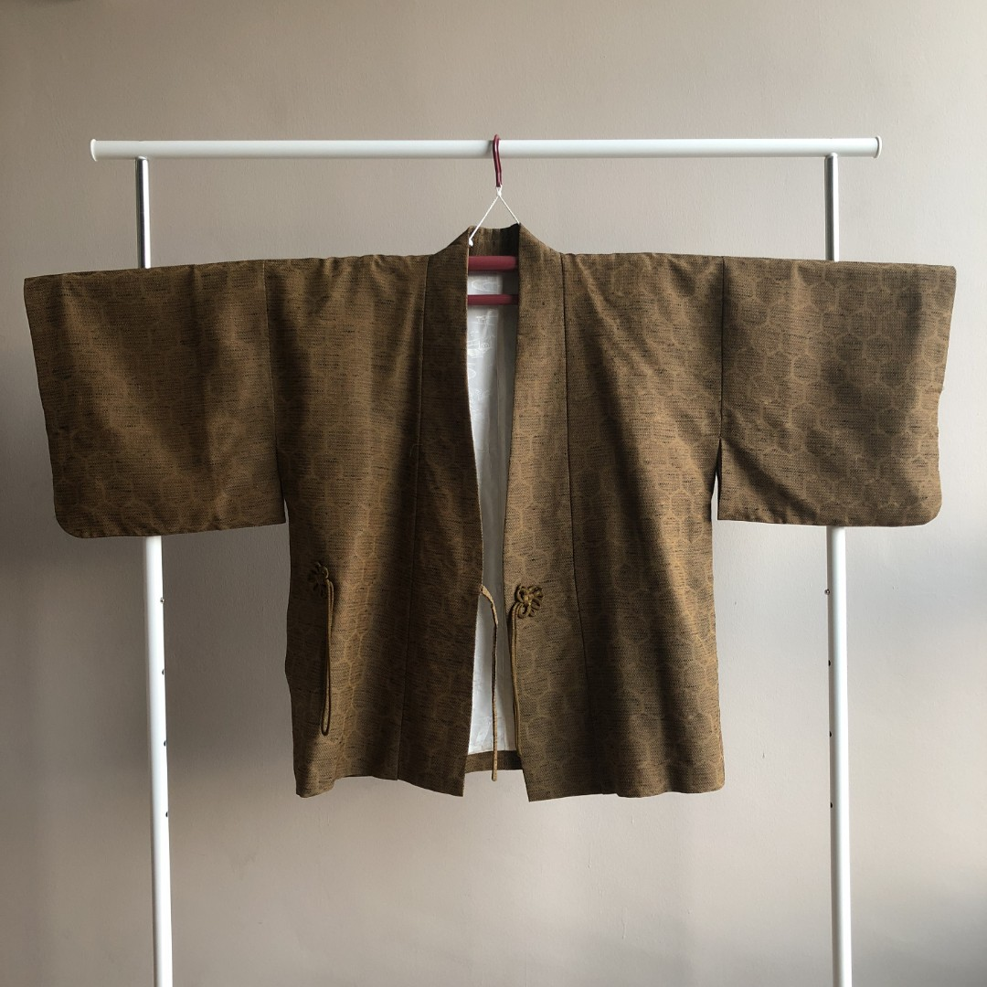 938811ce73d53 Vintage Brown Dochugi (Closed Kimono Jacket   Cardigan)