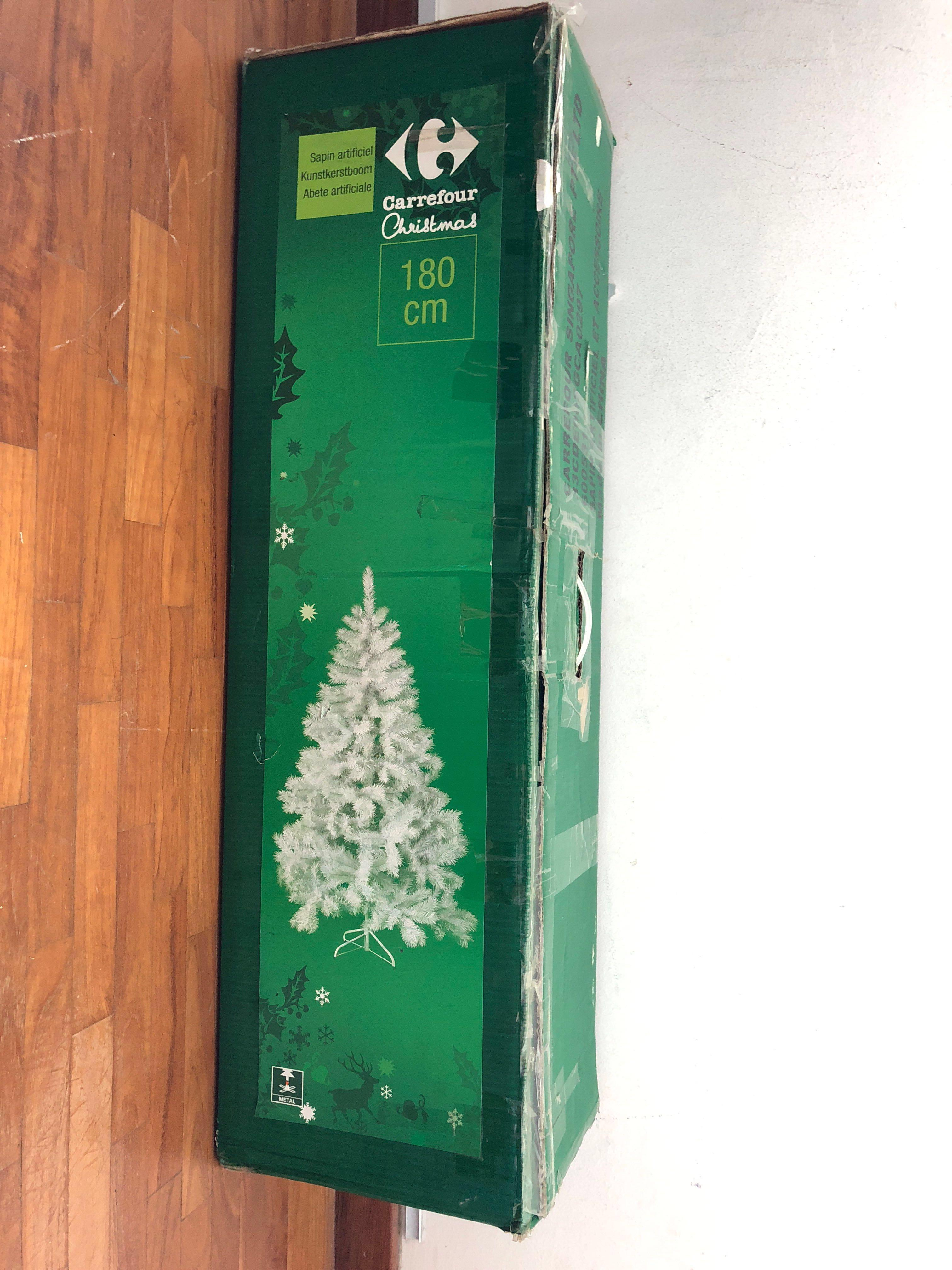 White Christmas Tree Furniture Home Decor Others On Carousell
