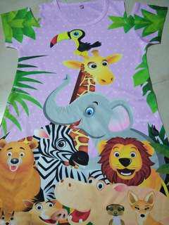 animals design dress