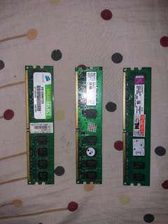 FREE MEMORY 2GB 2PCS, 1GB 1PCS.ASSORTED