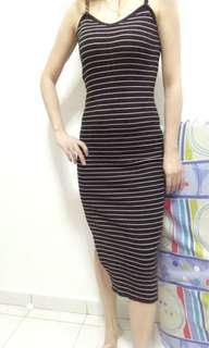 lonp dress弹性连身裙