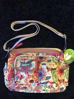 LILY BLOOM Spring Showers Libby Hobo Crossbody Bag Floral