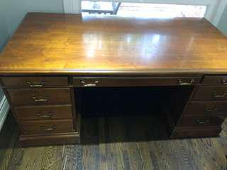 Solid antique executive desk