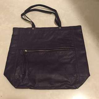 BN Calvin Klein Purple Shoulder Shopper Bag