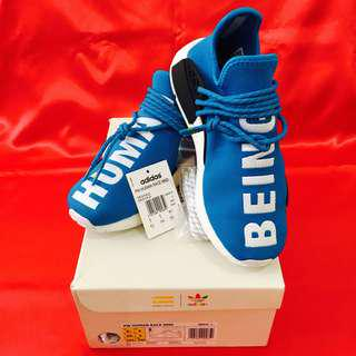 Authentic Adidas NMD X Human Race Pharrell Williams Blue White PW Human Being BB0618