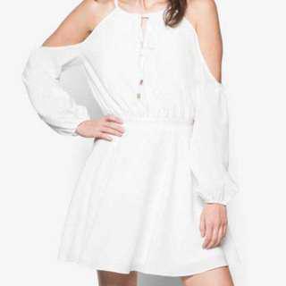 Zalora Cold Shoulder White Dress