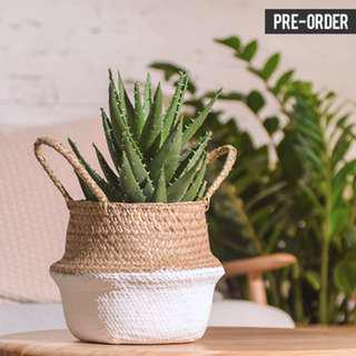 [PO] Nordic Style Bottom Dipped White Woven Basket
