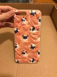 BNIB Apple iPhone 7 Plus Orange Pug Cover