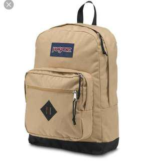 Beige JansPort backpack