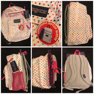 J A N S P O R T Laptop Backpack BNWT