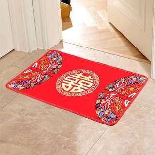 Wedding anti slip shuang xi decor Floor decor Mat 80 x 50cm