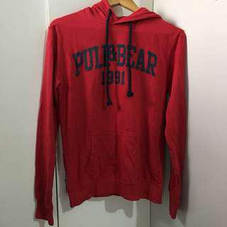 Pull and Bear authentic red hoodie