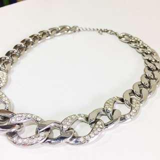 Forever 21 Silver link chain with jewels