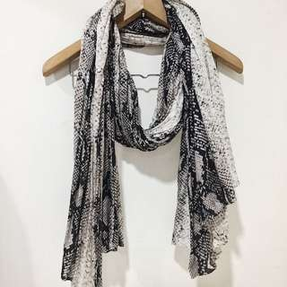 Zara Snakeskin patterned scarf