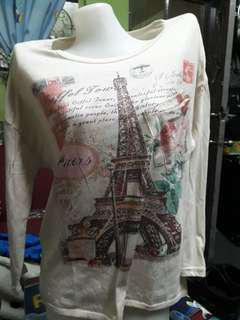 long sleeve blouse/large size