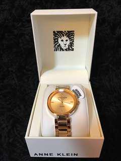 A N N E  K L E I N  Rose Gold Tone Bracelet Watch