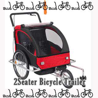 Brand new in stock Bicycle trailer 2 seater trolley foldable and convertible to push trolley