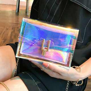 Hologram Transparent Sling Bag