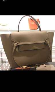 Authentic Celine Belt bag in Small, Light Taupe