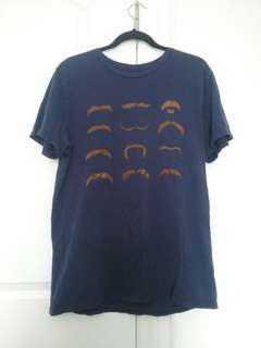 L mustache shirt