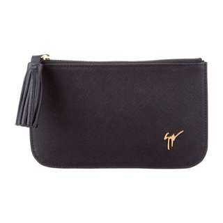 Giuseppe Zanotti Leather purse 黑色散紙包