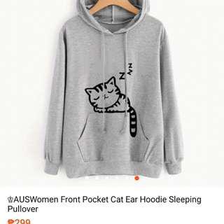 KOREAN CAT GRAY hoodie