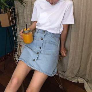 🔥READYSTOCK🔥 Brand New High Waisted Button Denim Skirt