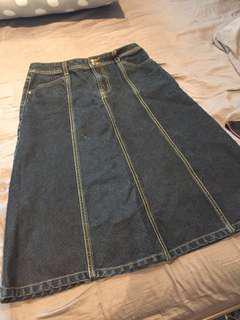 Anne Klein Denim Maxi Skirt