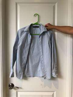 Zara Blue Dress Shirt
