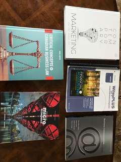 Selling first year business textbooks