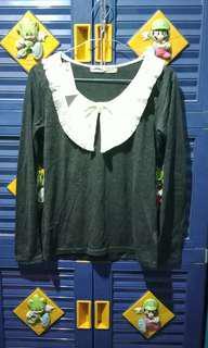ribbon collar longsleeve tshirt