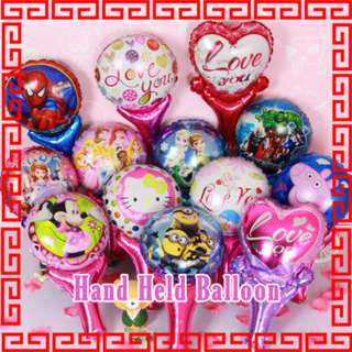 Brand New in stock Hand Held Balloon kids Party Balloons Goodie bags EVA art Children Art and Craft  toddler Kids