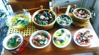 Miniature Filipino Food