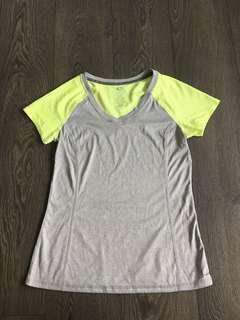 Athletic works grey and green workout top size small