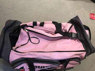 used once pink large hockey bag
