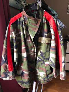 ZARA army print oversized jacket