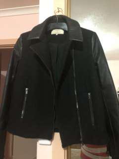 Zara wool and leather jacket