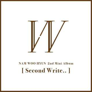 INFINITE NAM WOOHYUN 남우현 2ND MINI ALBUM - SECOND WRITE..