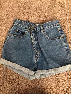 Vintage denim shorts S