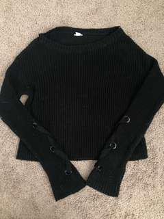 Black Knit Sweater S