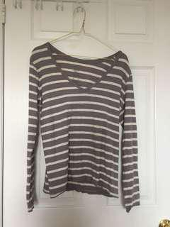 GAP Long Sleeved Stripe Shirt