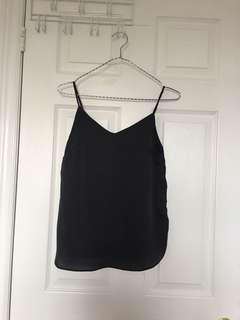 DYNAMITE Satin Black Tank Top