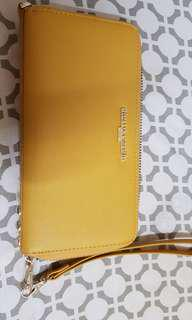Authentic Pierre Cardin mustard long purse