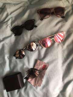 Various types of preloved sunglasses