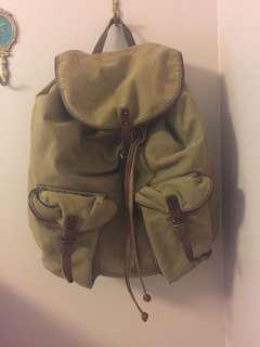 Ralph Lauren leather and cloth backpack