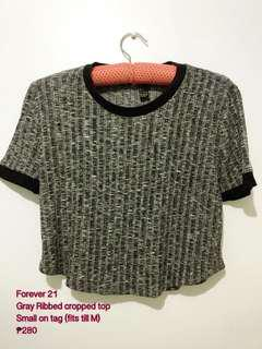 F21 ribbed cropped top